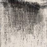 """""""Abstrato"""", 2014, bastão de óleo e grafite em pó sobre papel, 110x80 cm"""