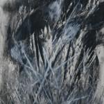 """""""Cortador"""", 2014, bastão de óleo e grafite em pó sobre papel, 76x56 cm"""