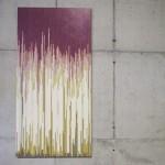 """""""Atividades Diárias"""", da série """"Autorretratos Estatísticos"""", 2012, acrílica sobre tela + livro de artista, 2,0x1,0 m"""