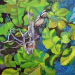 """""""Bem-te-vi de Toda Maneira"""", 2003, óleo sobre tela, 100x140 cm"""