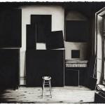 """Ateliê Mark Rothko nº 1"", 2015, nanquim e óleo sobre papel, 56x76 cm, foto de Paulo Rezende"