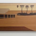 """""""Paisagem Brasileira 2"""", 2013/2014, laminado melamínico (Fórmica) cortado à laser, 85x140,5 cm"""