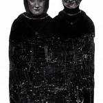 """Monolito"", 2011, grafite sobre papel, 100x70 cm"
