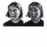 """""""Ícone"""", 2012, grafite e carvão sobre papel, 65x60 cm"""