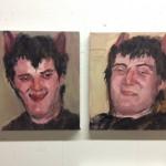 """""""Pervertido, ressaca"""", 2015, óleo sobre tela, díptico, 33x30 cm (cada)"""