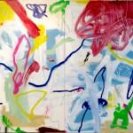 """""""Novinho"""", 2015, técnica mista sobre tela, 140x180 cm"""