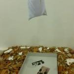 """""""Nave"""" (detalhe), instalação de Antonio Manuel exposta no Pavilhão Brasileiro, foto de Beatriz Caillaux"""
