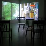 """Vista da instalação """"A casa de vidro"""""""