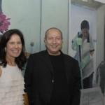 Fernando Cocchiarale ao lado de Lucrécia Vinháes, coordenadora do PIPA, na mostra PIPA 2011
