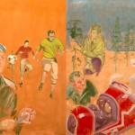 """Sem título, da série """"Maquinal"""", 2015, óleo sobre tela, 140 x 200 cm"""
