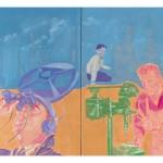"""Sem título, da série """"Maquinal"""", 2015, óleo sobre tela, 150 x 200 cm"""