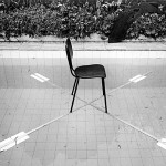 """""""Auditório para questões delicadas"""",  técnica mista, 10,70x10,70x0,80 m, Parque Ibirapuera, São Paulo, SP, 1989, foto de Guto Lacaz"""