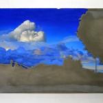 Sem título, 2015, pintura a óleo sobre placa de cimento, 70 x 130 x 15 cm