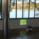 """""""Copo Americano"""", 2011, projeção de vídeo e áudio, 2'30"""", loop, vista da exposição, Centro Cultural São Paulo, SP, 2011, foto Eduardo Ortega, cortesia Galeria Fortes Vilaça"""