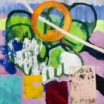 """""""Verão"""", 2016, acrílica sobre tela, 120 x 100 cm"""
