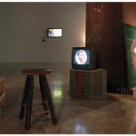 """""""Remediações"""", 2010 – em desenvolvimento, vista da Instalação na mostra """"Contra Escambos"""", Palácio das Artes, Belo Horizonte, 2013, diversos materiais, dimensões variáveis"""