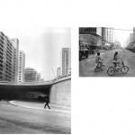 """""""A vida dos centros"""", 2011 – 2013, Inkjet print sobre papel algodão, montado sobre dibond e alumínio,instalação com 35 a 42 imagens, 35x42 cm (cada), medida total: 9 metros lineares, edição de 7+1 PA"""
