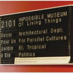"""""""2101 – The Impossible Museum Of Living Things"""", 2011, instalação site specific, vista da instalação no evento """"Other Possible Worlds"""", Casino Luxemburgo, dimensões variáveis"""