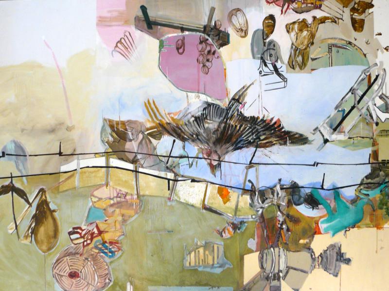 Lucia Laguna. Paisagem #81, 2016. Acrílica e óleo sobre tela. Col. da artista.