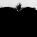 """Ana Vitória Mussi. """"Nadadora"""", da série Barreiras. 1972 Ampliação fotográfica a partir de intervenção em guache sobre jornal. 110 x 85 cm."""