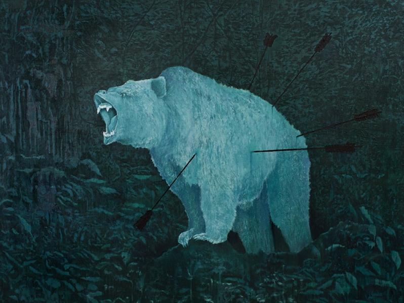 Bruno Vilela. São Sebastião, 2016 | óleo sobre tela | 140 x 190 cm (crédito: Anita Schwartz Galeria)